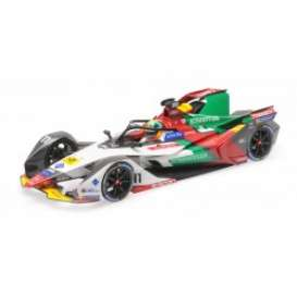 Audi ABT - 2018 white/red/green - 1:43 - Minichamps - 414180066 - mc414180066 | Toms Modelautos