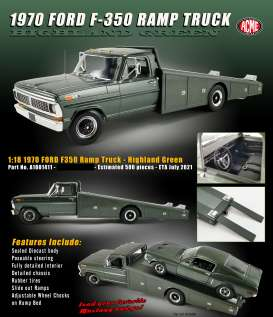 Ford  - F-350 Ramp Truck 1970 highland green - 1:18 - Acme Diecast - 1801411 - acme1801411 | Toms Modelautos