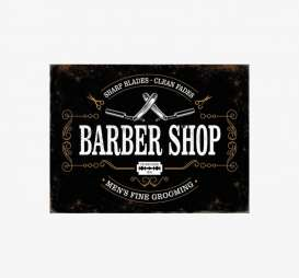Tac Signs  - Barbershop black - Tac Signs - BK5814 - tacBK5814 | Toms Modelautos