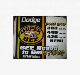 Tac Signs  - Dodge yellow/black - Tac Signs - R98574 - tacR98574 | Toms Modelautos