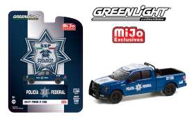 Ford  - F-150 *SSp* 2017 blue/white - 1:64 - GreenLight - 51380 - gl51380 | Toms Modelautos