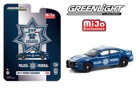 Dodge  - Charger *SSP* 2017 blue/white - 1:64 - GreenLight - 51381 - gl51381 | Toms Modelautos