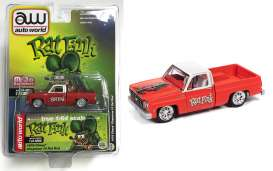 Chevrolet  - Cheyenne 10 *Rat Rod* 1978 red/white - 1:64 - Auto World - CP7723A - AWCP7723A | Toms Modelautos