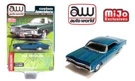 Chevrolet  - Impala SS *Lowrider* 1966 blue/green - 1:64 - Auto World - CP7740 - AWCP7740 | Toms Modelautos