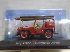 Jeep  - CJ2A Bomberos 1946 red - 1:43 - Magazine Models - SER11 - magSER11 | Toms Modelautos
