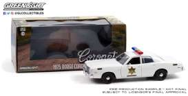 Dodge  - Coronet Hazzard County Sheriff 1975 white - 1:24 - GreenLight - 84104 - gl84104 | Toms Modelautos