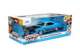 Plymouth  - Road Runner *Looney Tunes* 1970 blue/black - 1:24 - Jada Toys - 32038 - jada32038 | Toms Modelautos