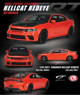 Dodge  - Charger Hellcat Redeye 2021 orange/black - 1:18 - Acme Diecast - US041 - GTUS041 | Toms Modelautos