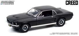 Ford  - Mustang 1967 matte black - 1:18 - GreenLight - 13611 - gl13611 | Toms Modelautos