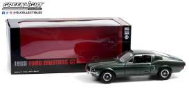 Ford  - Mustang GT 1968 green - 1:18 - GreenLight - 13615 - gl13615 | Toms Modelautos