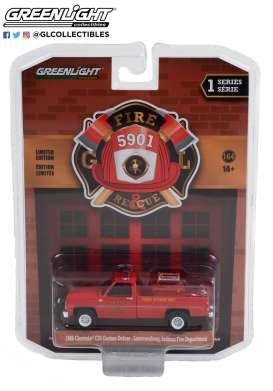 Chevrolet  - C20 1963 red - 1:64 - GreenLight - 67010A - gl67010A | Toms Modelautos