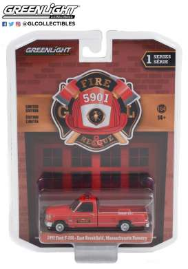 Ford  - F-350 1992 red - 1:64 - GreenLight - 67010B - gl67010B | Toms Modelautos