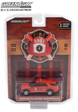 Ford  - Interceptor 2020 red - 1:64 - GreenLight - 67010F - gl67010F | Toms Modelautos