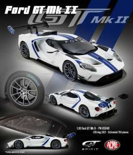 Ford  - GT MKII white/blue - 1:18 - Acme Diecast - US040 - GTUS040 | Toms Modelautos