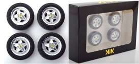 Wheels & tires  - black - 1:18 - KK - Scale - acc007 - kkdcacc007 | Toms Modelautos