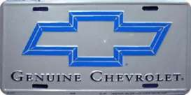 Funny Plates  - Chevrolet silver/blue - Tac Signs - 2431 - fun2431 | Toms Modelautos