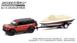 Ford  - Bronco 2021 red/black - 1:64 - GreenLight - 32230D - gl32230D | Toms Modelautos