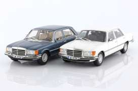 Mercedes Benz  - SEL 1975 blue - 1:18 - iScale - 18084 - iscale18084 | Toms Modelautos