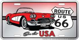 Funny Plates  - Route 66 silver/red/white - Tac Signs - SLR6CC - funSLR6CC | Toms Modelautos
