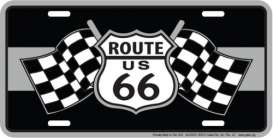 Funny Plates  - Route 66 black/silver - Tac Signs - SLR6FS - funSLR6FS | Toms Modelautos