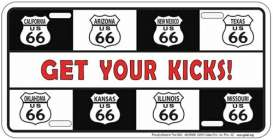 Funny Plates  - Route 66 white/black/red - Tac Signs - SLR68K - funSLR68K | Toms Modelautos