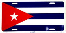 Funny Plates  - Cuba blue/red/white - Tac Signs - 2370 - fun2370 | Toms Modelautos