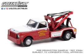 Chevrolet  - C-30 1972 red/white - 1:64 - GreenLight - 46080B - gl46080B | Toms Modelautos