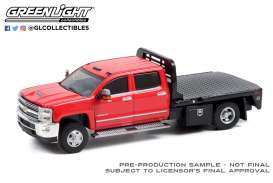 Chevrolet  - Silverado 2016 red/black - 1:64 - GreenLight - 46080C - gl46080C | Toms Modelautos
