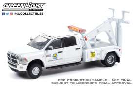 Ram  - 3500 Dually 2018 white - 1:64 - GreenLight - 46080F - gl46080F | Toms Modelautos
