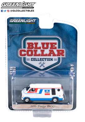 Dodge  - B-100 1976 white/blue/red - 1:64 - GreenLight - 35200C - gl35200C | Toms Modelautos