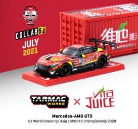 Mercedes Benz  - AMG GT3 2020 red/black/yellow - 1:64 - Tarmac - T64-008-JUICE - TC-T64-008JUICE | Toms Modelautos