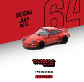 Porsche  - RWB 2020 red/black - 1:64 - Tarmac - T64-046RE - TC-T64-046RE | Toms Modelautos