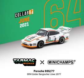 Porsche  - 935/77 white/orange - 1:64 - Tarmac - T64MC-002-VAL - TC-T64MC002VAL | Toms Modelautos