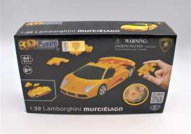 Lamborghini  - Murcielago 3D Puzzle orange - 1:32 - Happy Well - 57061 - happy57061 | Toms Modelautos