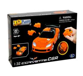 Corvette  - C6R 3D Puzzle orange - 1:32 - Happy Well - 57150 - happy57150 | Toms Modelautos