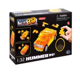 Hummer  - H2 3D Puzzle crystal orange - 1:32 - Happy Well - 57101 - happy57101 | Toms Modelautos