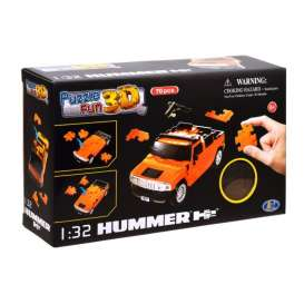 Hummer  - H2 3D Puzzle orange - 1:32 - Happy Well - 57100 - happy57100 | Toms Modelautos