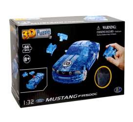 Ford  - Mustang FR500C 3D Puzzle crystal blue - 1:32 - Happy Well - 57091 - happy57091 | Toms Modelautos