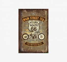 Tac Signs  - Route 66 brown/beige - Tac Signs - OTRW1007 - tacOTRW1007 | Toms Modelautos