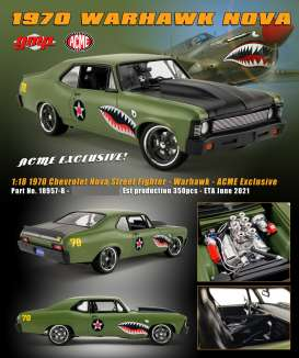 Chevrolet  - Nova *Warhawk* Street Fighter 1970 grey - 1:18 - GMP - 18957-B - acme18957B | Toms Modelautos