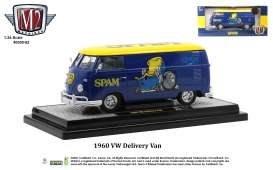 Volkswagen  - Delivery 1960 blue/yellow - 1:24 - M2 Machines - 40300-82 - M2-40300-82B | Toms Modelautos