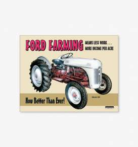 Tac Signs  - Tractor, Ford beige/red - Tac Signs - D758 - tacD758 | Toms Modelautos