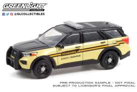 Ford  - Interceptor 2020 black/yellow - 1:64 - GreenLight - 30296 - gl30296 | Toms Modelautos