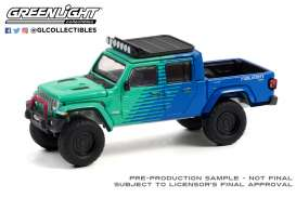 Jeep  - Gladiator 2021 green/blue - 1:64 - GreenLight - 30298 - gl30298 | Toms Modelautos