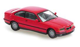 BMW  - 3-series 1992 red - 1:43 - Maxichamps - 940023320 - mc940023320 | Toms Modelautos
