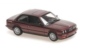 BMW  - 3-series 1989 red metallic - 1:43 - Maxichamps - 940024000 - mc940024000 | Toms Modelautos
