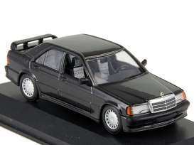 Mercedes Benz  - 190  E 2,3-16 1984 black metallic - 1:43 - Maxichamps - 940035601 - mc940035601 | Toms Modelautos