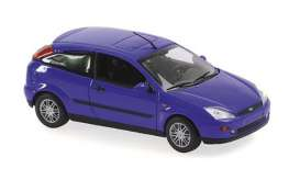 Ford  - Focus 2-door 1998 blue metallic - 1:43 - Maxichamps - 940087000 - mc940087000 | Toms Modelautos