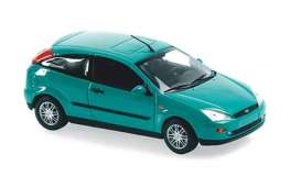 Ford  - Focus 2-door 1998 green metallic - 1:43 - Maxichamps - 940087001 - mc940087001 | Toms Modelautos