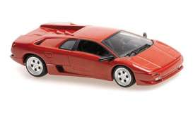 Lamborghini  - Diablo 1994 red - 1:43 - Maxichamps - 940103570 - mc940103570 | Toms Modelautos